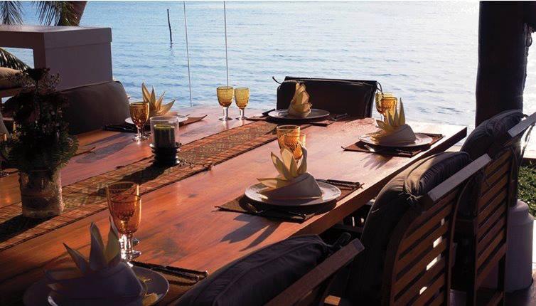 Beachfront dining at Baan Mika