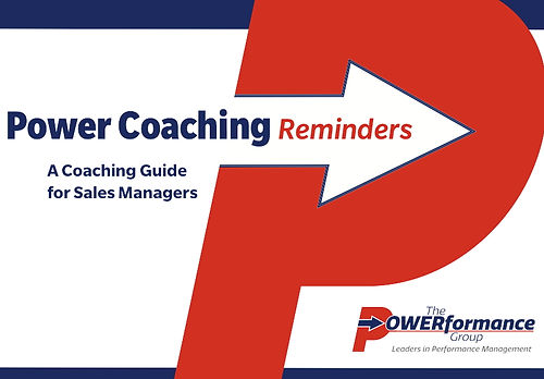 Reminders for Sales Coaching Reports Job Aid