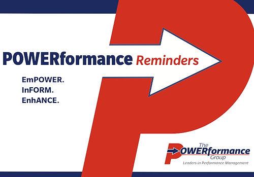 POWERformance Reminders Job Aid