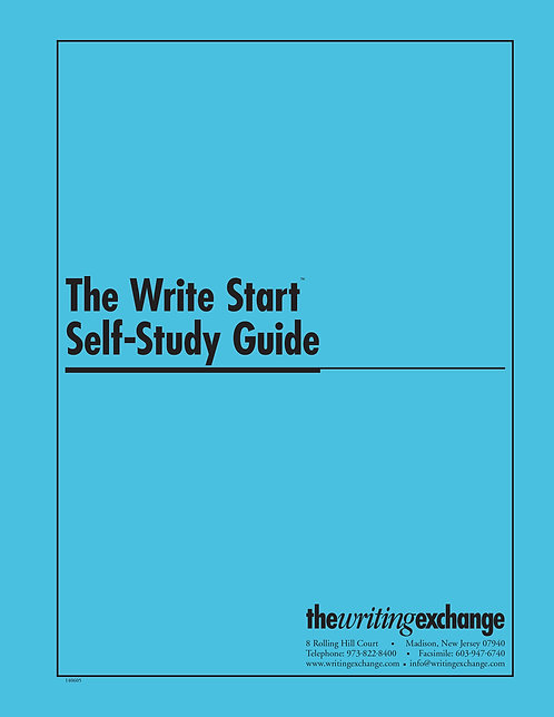 The Write Start Self-Study Guide