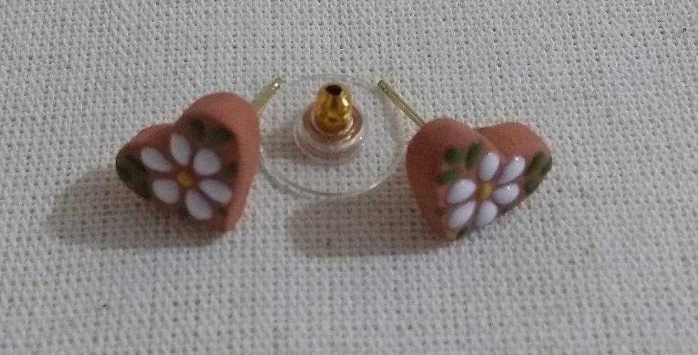 Aretes Flor Blanca