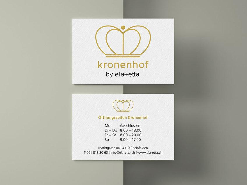 Kronenhof Visitenkarte
