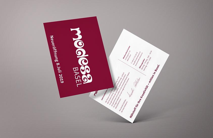 Modesa Einladungskarte