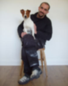 Ben Fearnside with his dog Benji