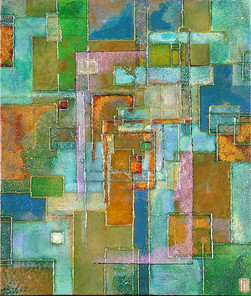 'Utopia' an original abstract by Ben Fearnside