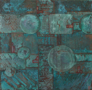 'Colony 5' an original abstract by Ben Fearnside