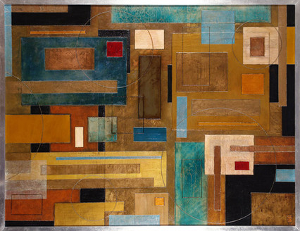 'Hum' an abstract painting by Ben Fearnside