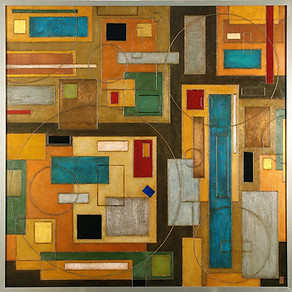 'Take Five' an abstract painting by Ben Fearnside