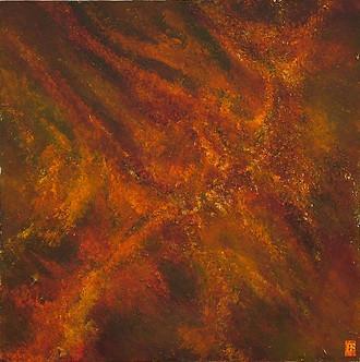 'Mars/ Descent' an original abstract by Ben Fearnside