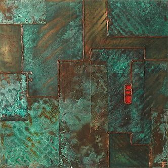 'Colony 3' an original abstract by Ben Fearnside