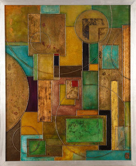 'Containment 12' an abstract painting by Ben Fearnside