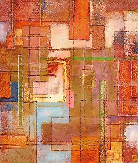 'Stripped' an original abstract by Ben Fearnside