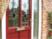 Poppy red uPVC residential door