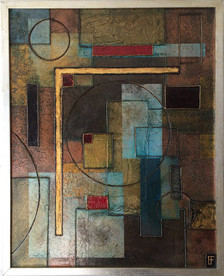 'Containment (L)' an abstract painting by Ben Fearnside