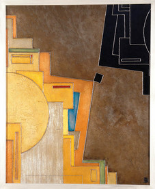 'Cadiz' an abstract painting by Ben Fearnside