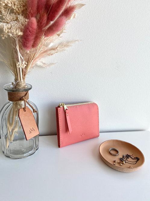Half Zip Wallet - Pink