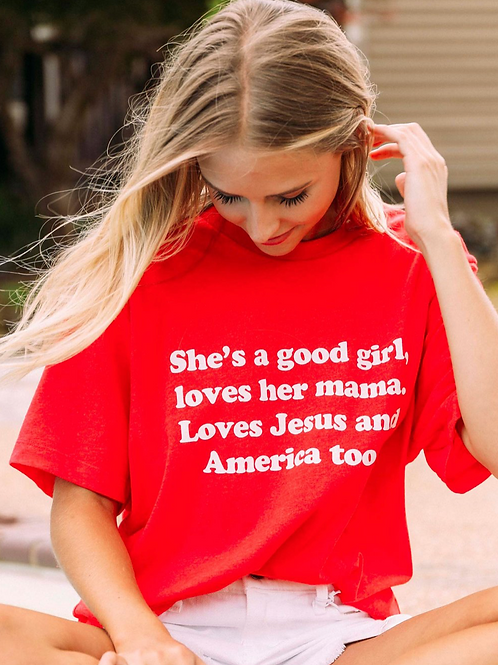 """Mama & Jesus & America"" Graphic Tee"