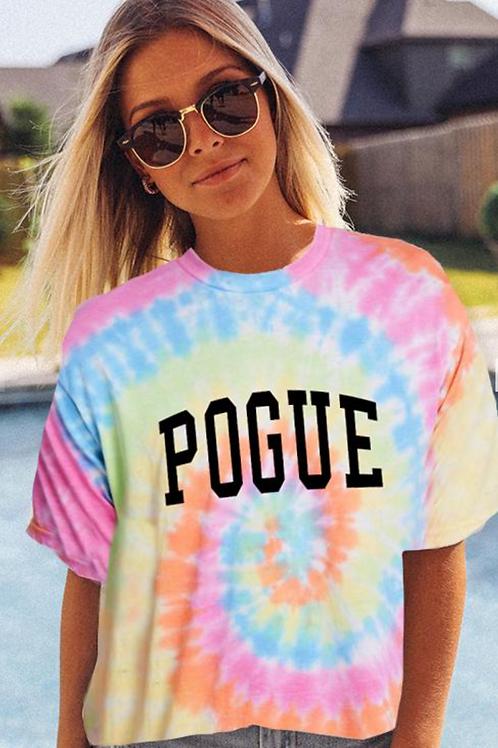 """""""Pouge"""" Tie Dye Graphic Tee"""