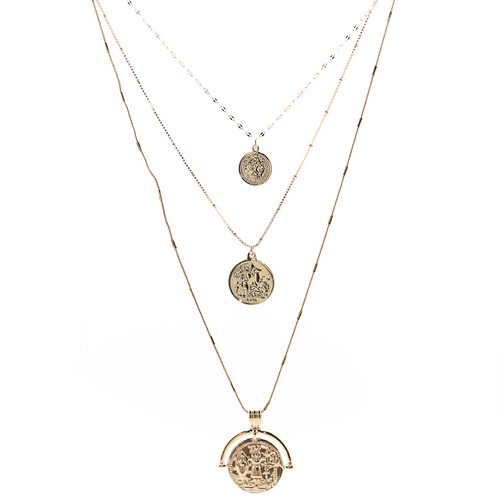 """B.B. Lila """"Layer All The Way"""" Coin Necklace"""