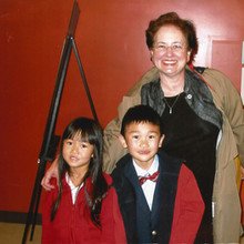 Bonnie with students Amy Chen & Tiger Zhang
