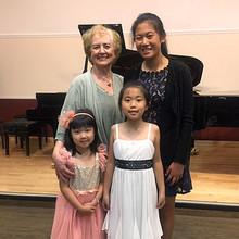 Bonnie with students Brooke, Allison & Rachel Cheung