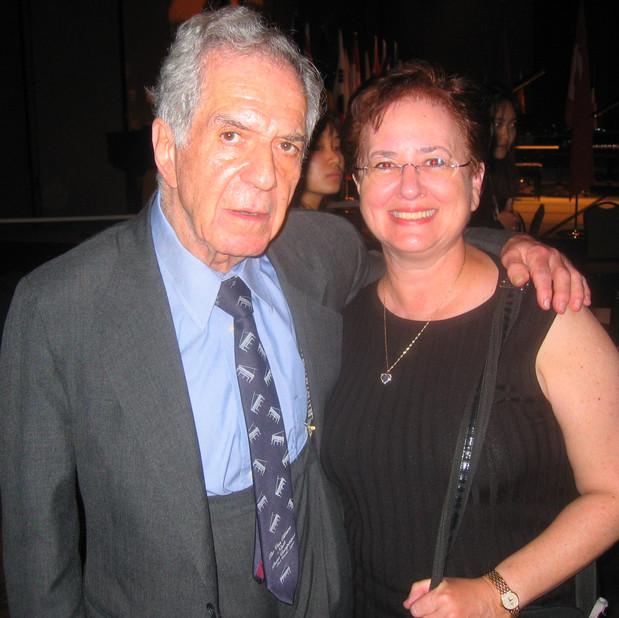 Claude Frank (Concert Pianist, Faculty Yale University) & Bonnie