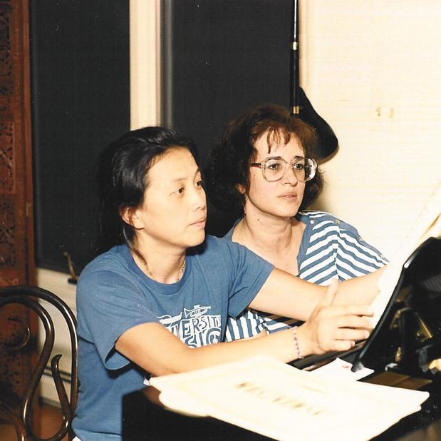 Juanita Tsu and Bonnie preparing for duet recital