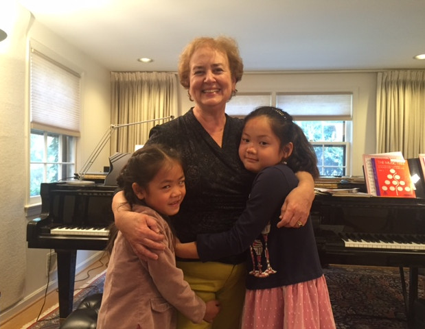 Bonnie with students Eunia Zhong & Olivia Wu