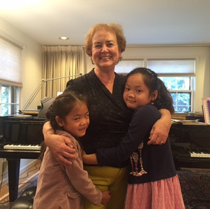 Bonnie with students Eunia Zhong & Olivia Wu