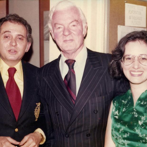 George Manos (Music Director,  Nat'l Gallery of Art), Patrick Hayes (Impresario and Founder, WPAS) & Bonnie