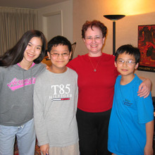 Bonnie with students
