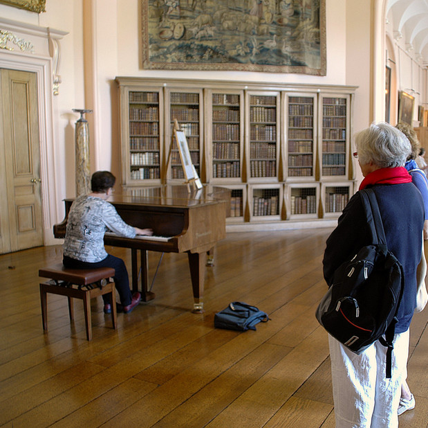 Bonnie Playing Bosendorfer in Castle Howard, England