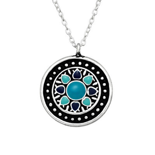 """Ocean Mandala"" Necklace"