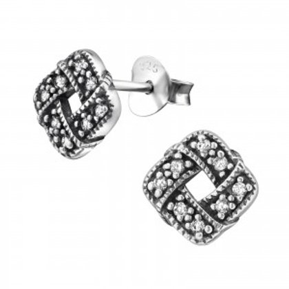 """""""Sparkling Knot"""" Ear Studs"""