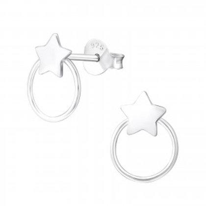 """ Little Circle Star"" Ear Studs"