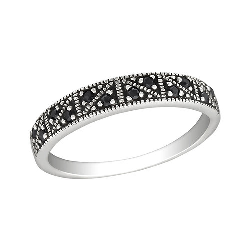 """Black Sparkle"" Ring"