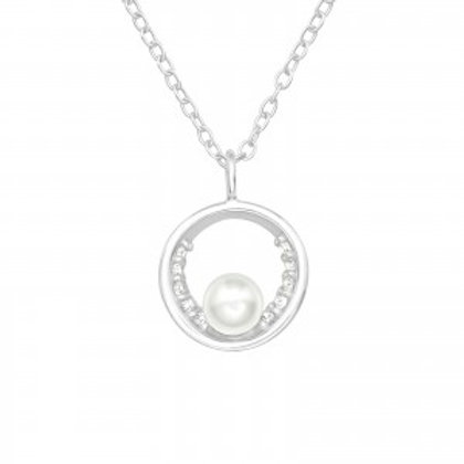 """""""Round Sparkling Pearl"""" Necklace"""