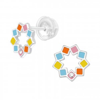 """""""Colors of the Heart"""" Ear Studs"""