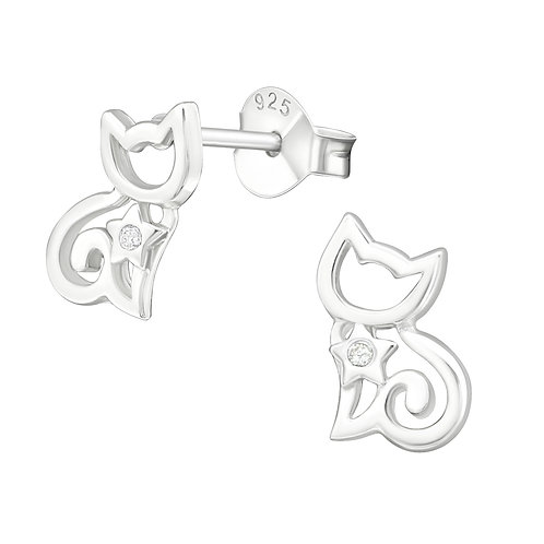 """""""Little Kittens"""" Ear Studs"""