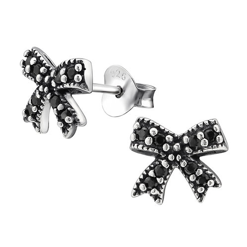 """Sparkling Bow"" Ear Studs"