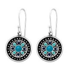 """""""Ocean Mandala"""" Earrings"""