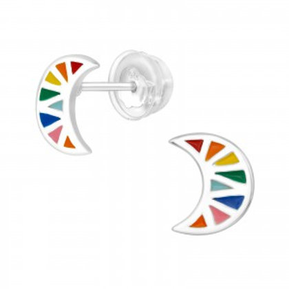 """Colors of the Moon"" Ear Studs"