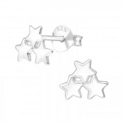"""""""Three Little Stars"""" Ear Studs"""