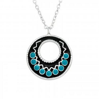 """""""Blue Mandala"""" Necklace"""