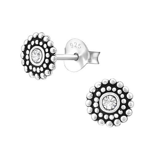 """Crystal Wheel"" Ear Studs"