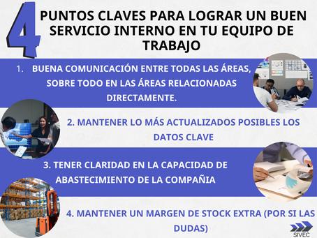 El buen servicio al cliente se genera desde el buen servicio entre el equipo de trabajo