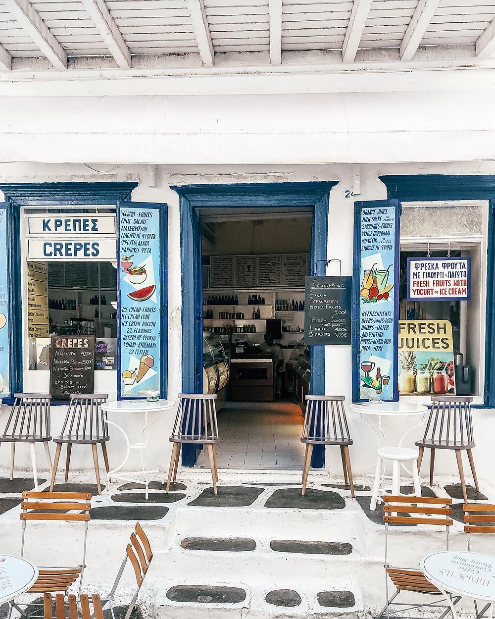 Gelato, Mykonos, Greece
