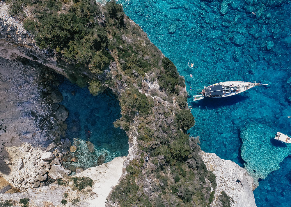 Sea Cave, Paxos, Greece