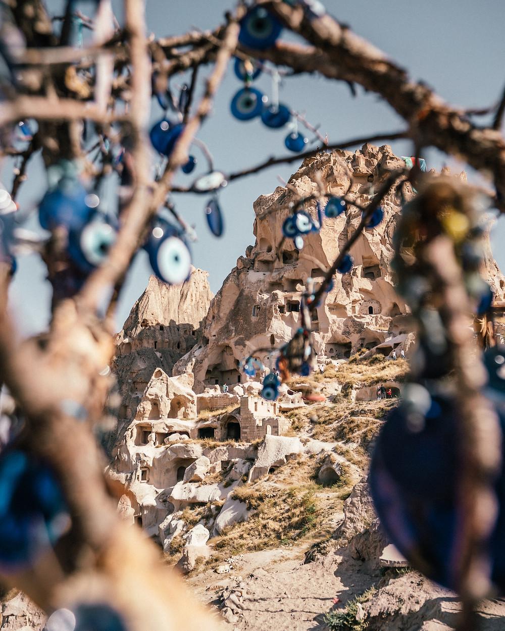 Uxhisar Castle, Cappadocia, Turkey