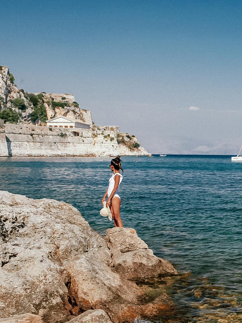 Corfu Old Town Beach, Greece